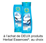 Coupon Rabais pgEveryDay A Imprimer De 1.50$ Sur Herbal Essences