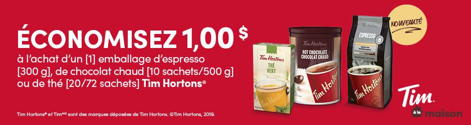 Coupon Rabais Imprimable De 1$ Sur Walmart Sur Tim Hortons Espresso Or Hot Chocolate Or Tea