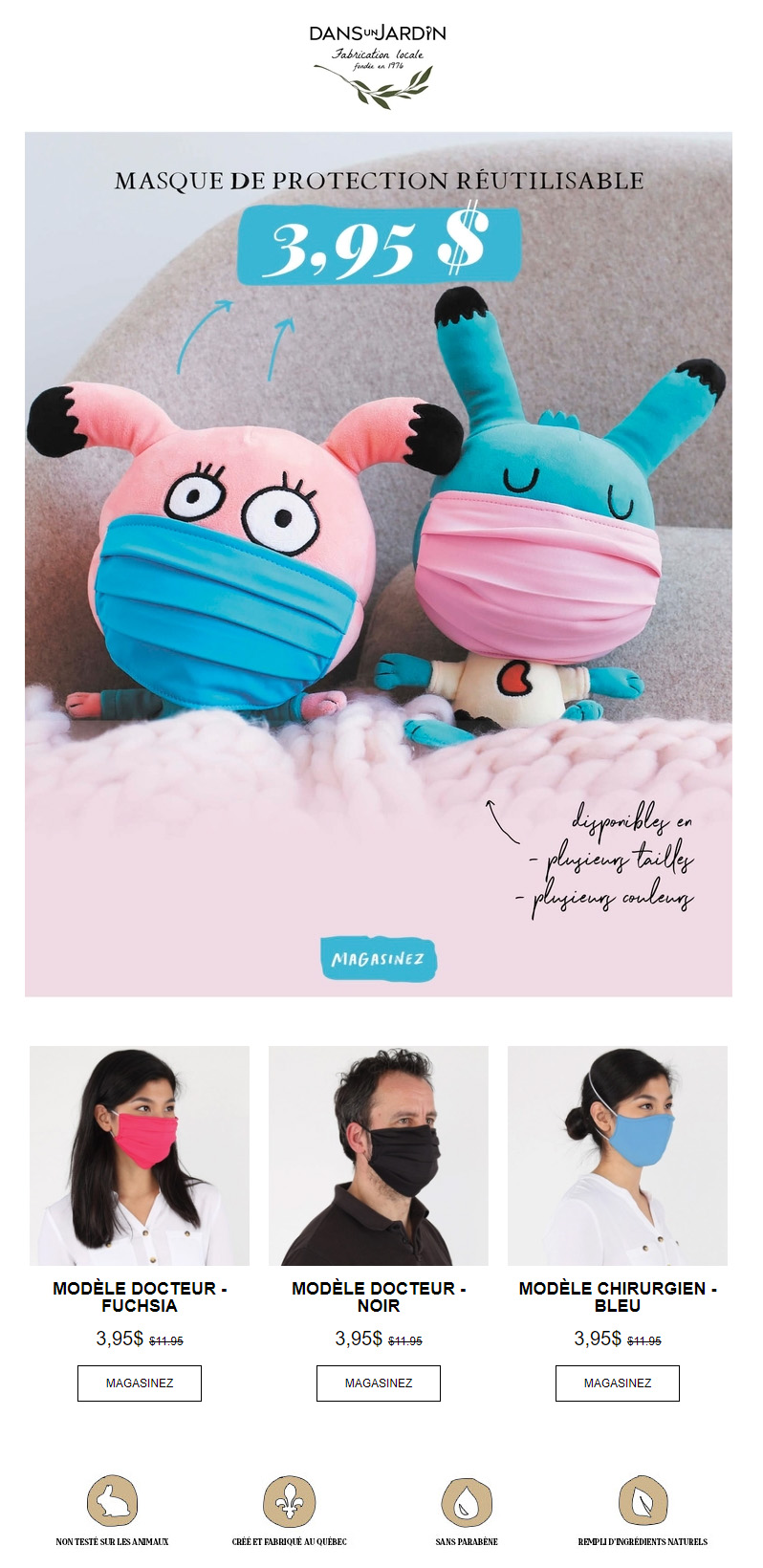 3,95$ Pour Des Masques Durables
