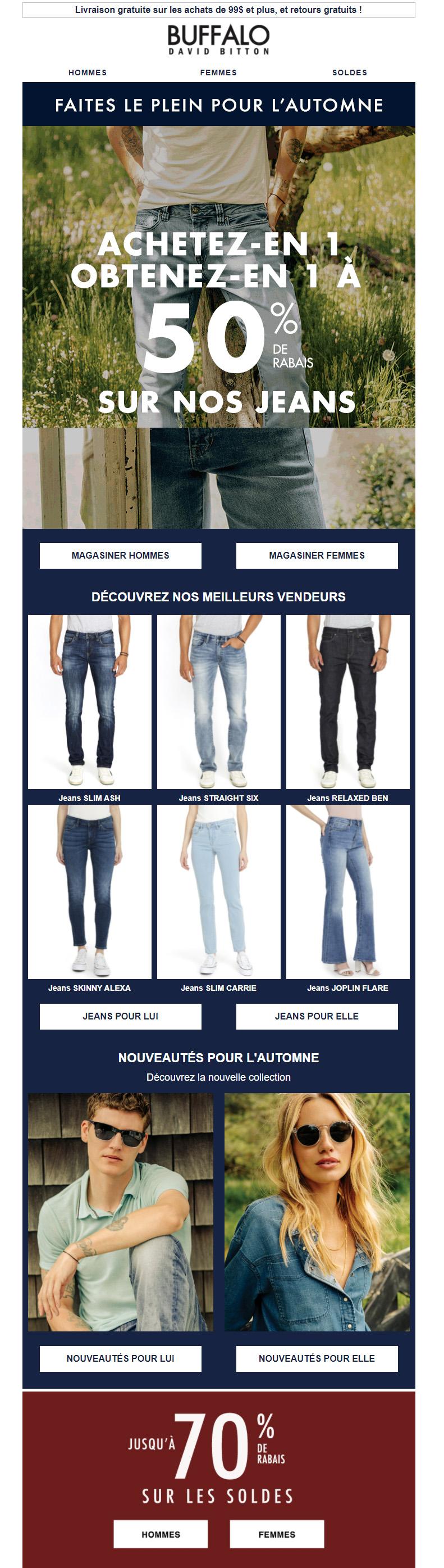 50% De Rabais Sur La 2e Paire De Jeans