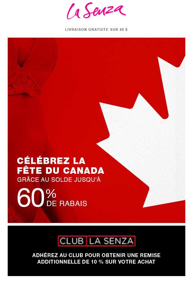 Célébrez La Fête Du Canada Grâce Au Solde Jusqu