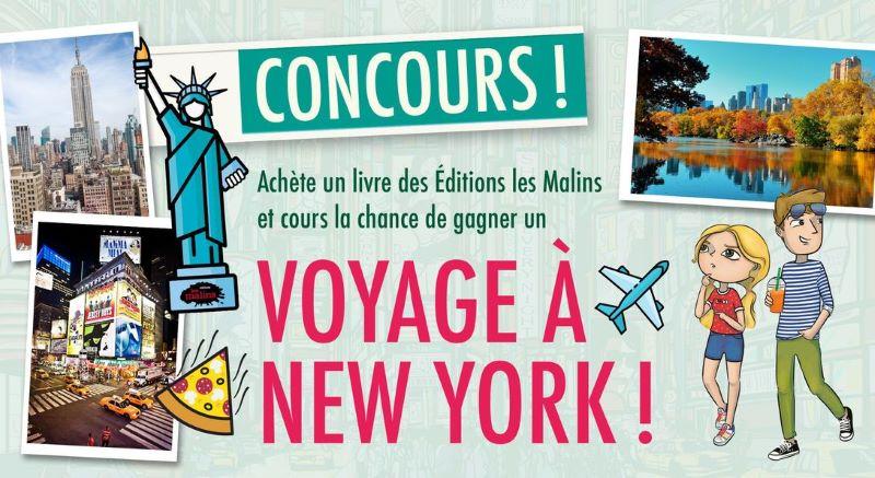 Concours Envole Toi Pour New York Grâce Aux éditions Les Malins!