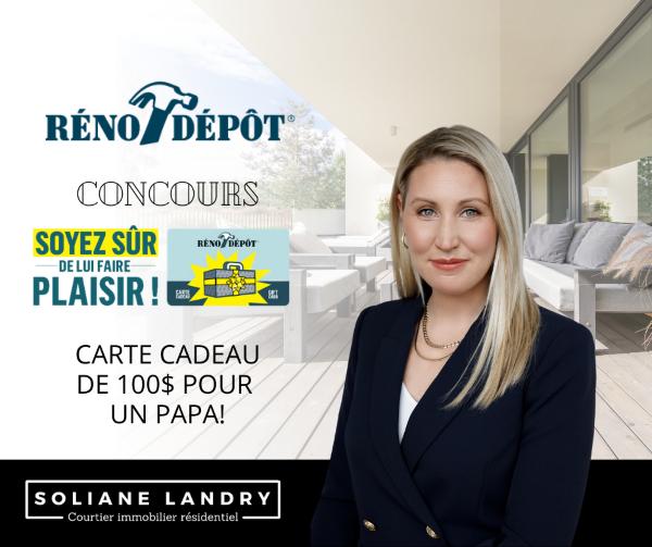 Concours Gagne Une Carte Cadeaux De 100$ Chez Réno Dépôt!