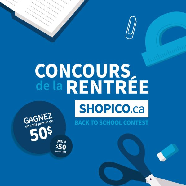 Concours Gagnez 50$ Valide Sur Shopico.ca!