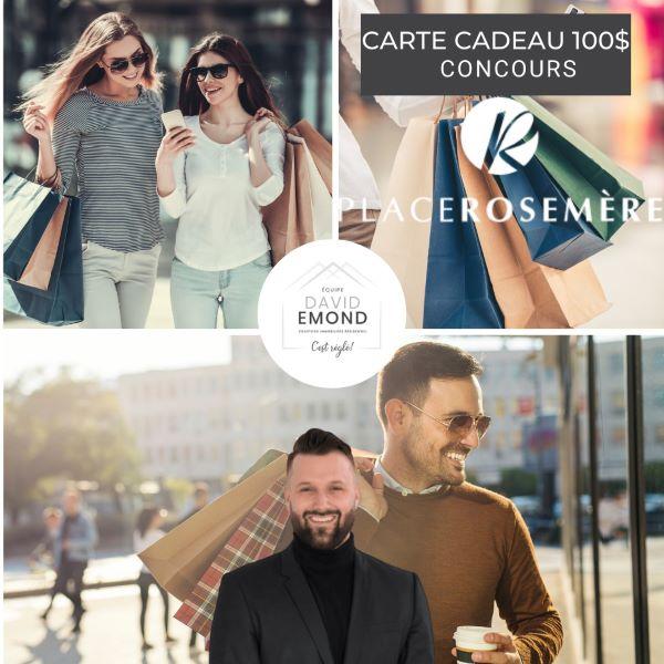 Concours Gagnez Une Carte Cadeau D'une Valeur De 100$ à La Place Rosemère!