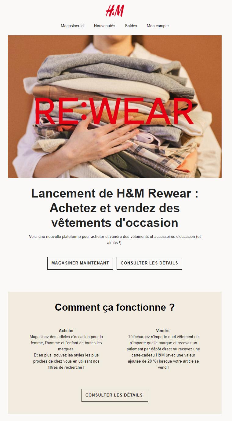 Lancement De H&m Rewear : Achetez Et Vendez Des Vêtements D