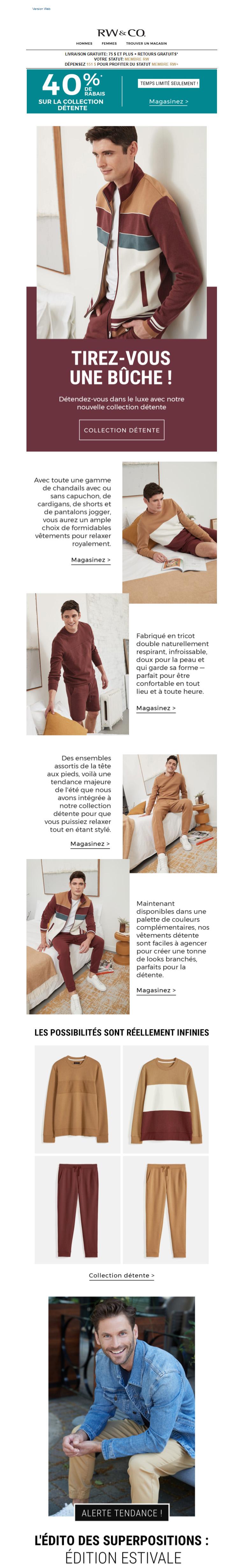 Relaxez Avec  40% Sur Les Vêtements De Détente