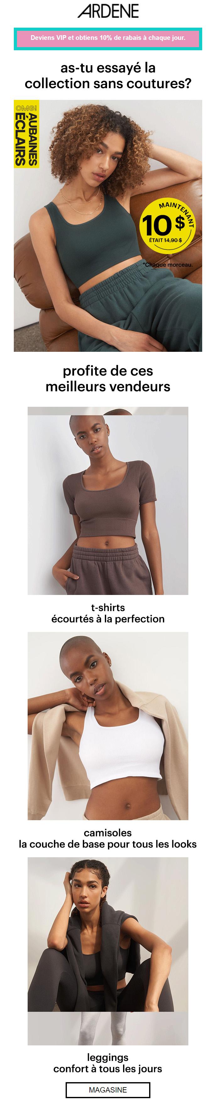Sans Coutures à 10 $