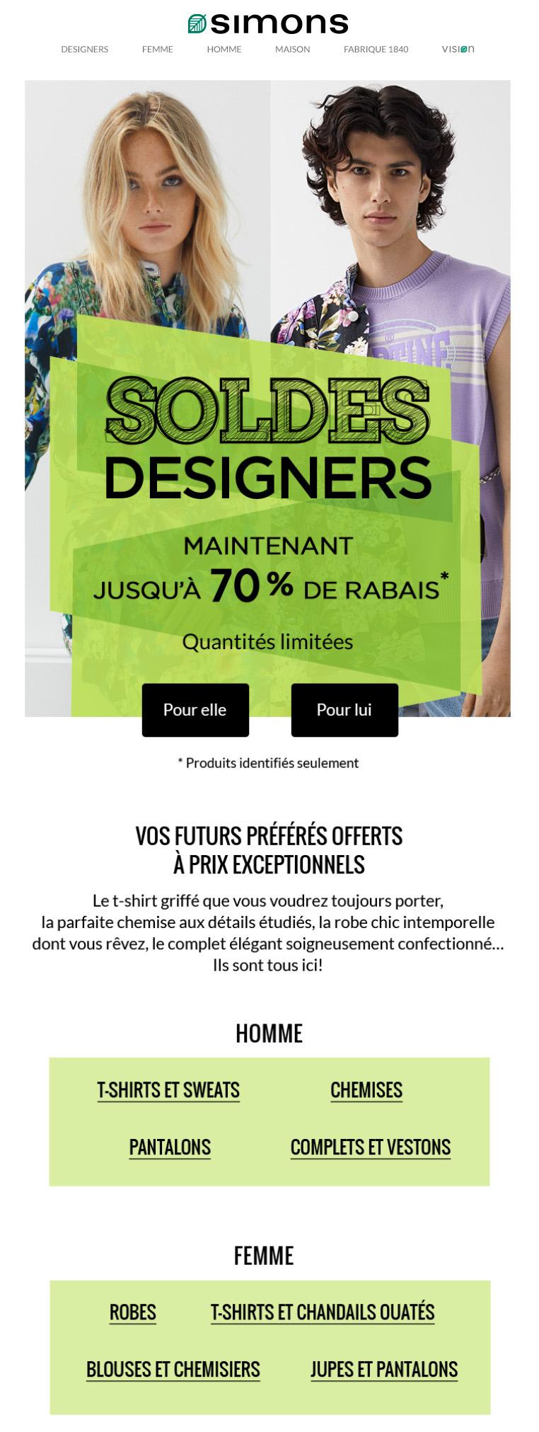 Soldes Designers : 70 % De Rabais Sur Pièces Sélectionnées!