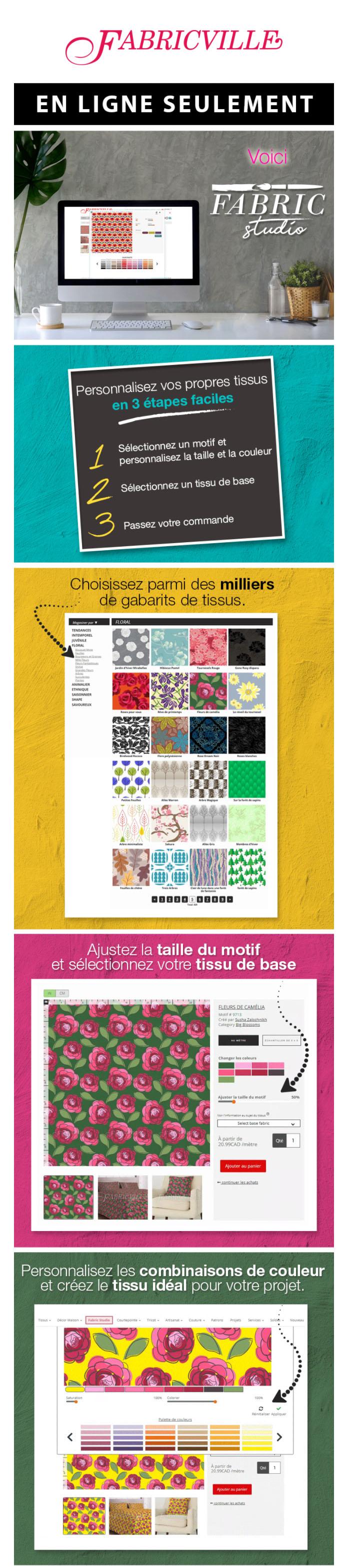 Tout Nouveau, Tout Beau! Fabric Studio: Votre Outil Pour Créer Vos Propres Tissus En Ligne!