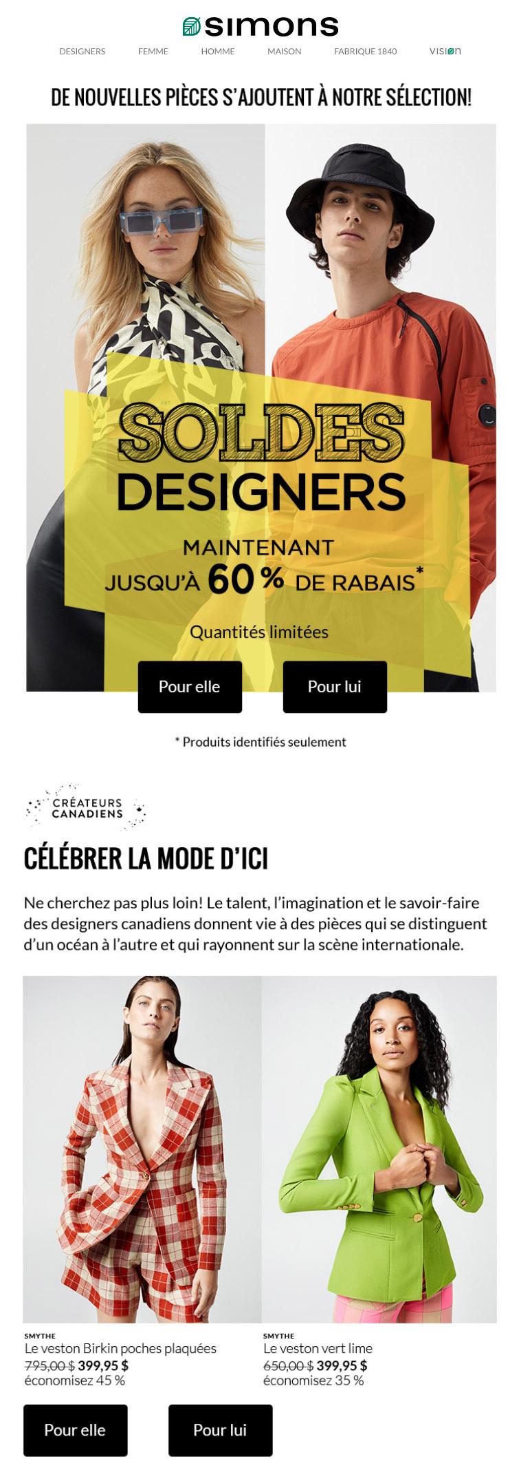 Wow! 60 % De Rabais Sur Pièces Griffées Sélectionnées!