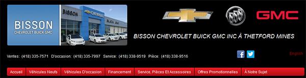 Bisson Chevrolet Buick Gmc En Ligne