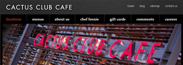 Cactus Club Cafe Online