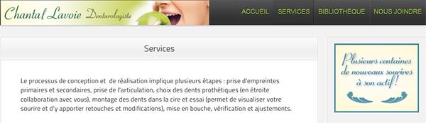 Clinique De Denturologie Chantal Lavoie En Ligne