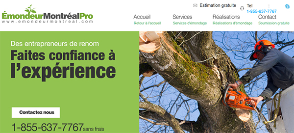 émondeur Montréal Pro En Ligne