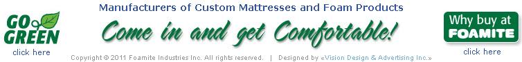 Foamite Mattress Go Green