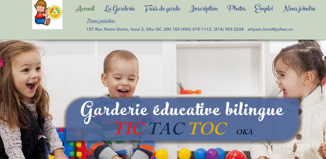 Garderie Tic Tac Toc En Ligne