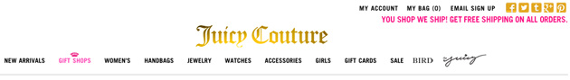 Juicy Couture Fashion Store Online