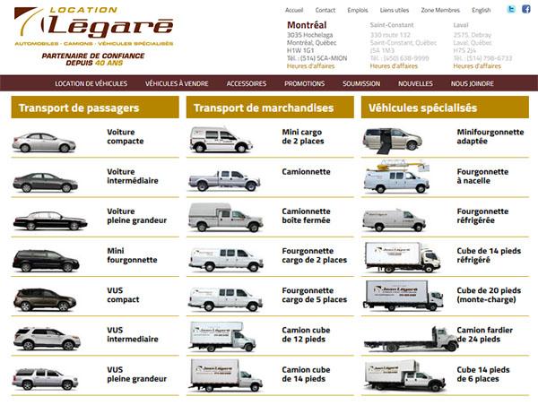 Location Légaré Autos Camions Véhicules Spécialisés