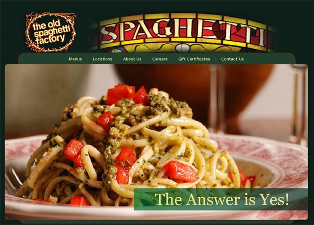 Old Spaghetti Factory Restaurants Pasta Online