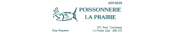 Poissonnerie La Prairie En Ligne
