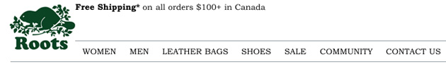 Roots Canada Online Store