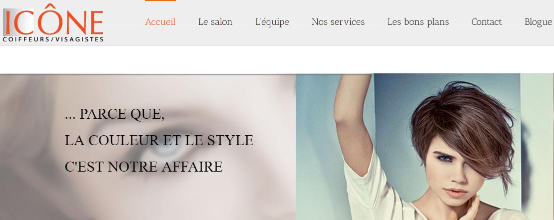 Salon De Coiffure Icône En Ligne