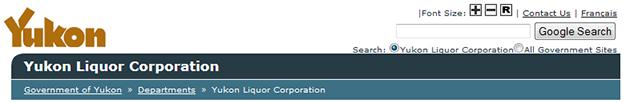 Yukon Liquor Corporation Online